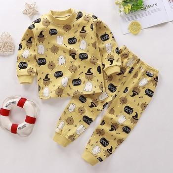 0-24M Baby Clothing Sets Autumn Baby boys Clothes Infant Cotton Girls Clothes 2pcs newborn baby Underwear Kids Clothes Set - B, 3M