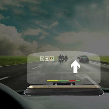 цена на Universal Car speed HUD Head Up Display Projector Phone Navigation Smartphone Holder GPS HUD Display Phone Holder GPS Projector