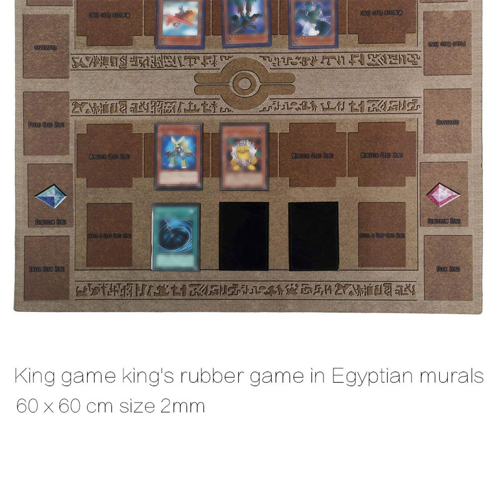 Mintuse 60/×60cm Rubber Play Mat Egypt Mural Style Competition Pad for Yu-gi-oh Card Yellow, 60/×60cm