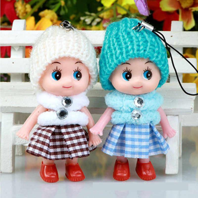 JIMITU mały prezent plaid spódnica mylić lalki mobilne wisiorek do telefonu kapelusz dziecko clown lalki ślub powrót pluszowa lalka na prezent urodzinowy zabawki