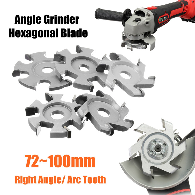 H16 Wood Carving Grinder Blade Hexagonal Wood Tools For 16mm Aperture Angle Grinder Hexagonal Blade Disc
