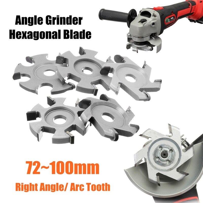 H16 Wood Carving Grinder Blade Hexagonal Wood Tools For 16mm Aperture Angle Grinder Hexagonal Blade Disc