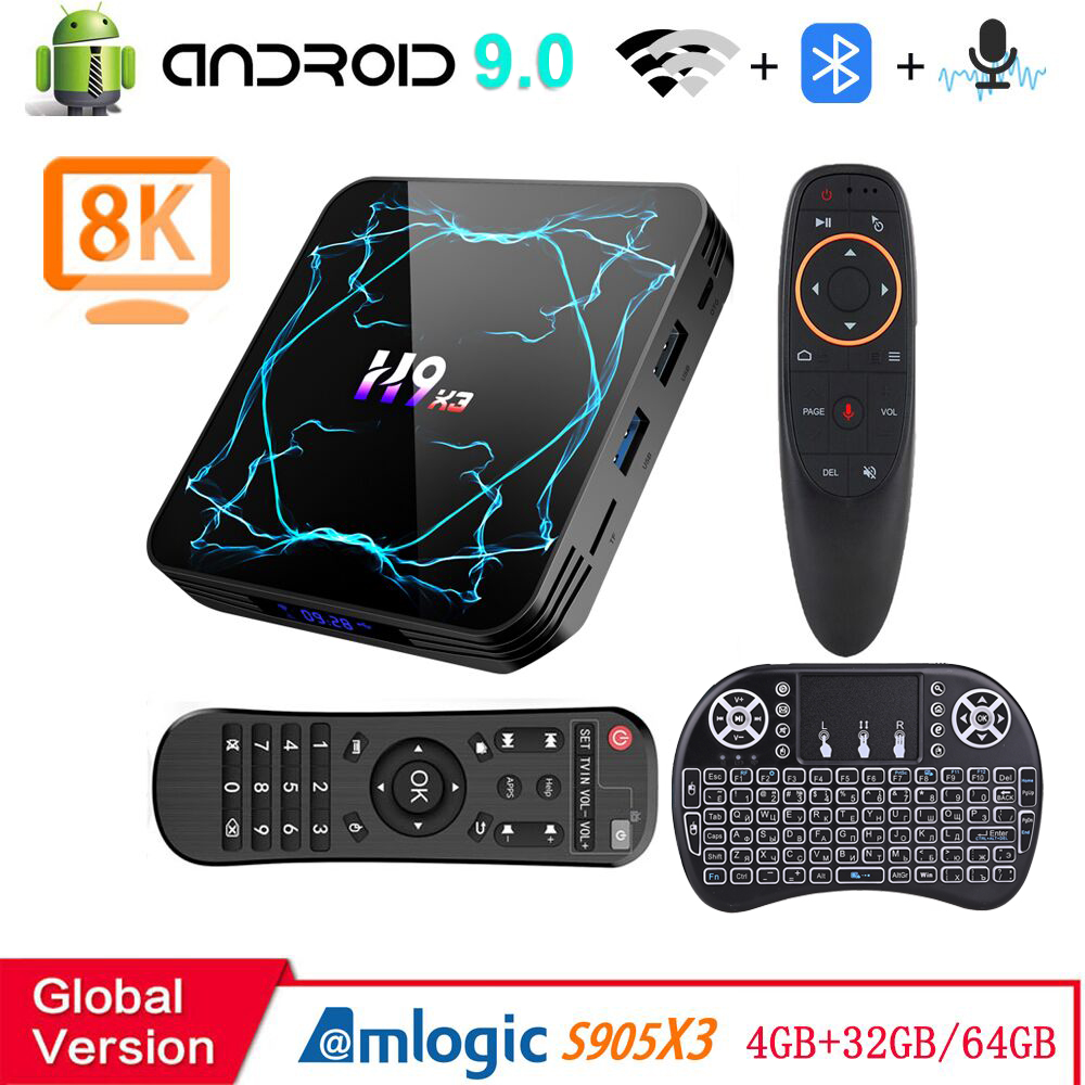 Android 9.0 Tv Box 4G 32Gb 64Gb Amlogic S905X3 8K 3D Video 2.4G&5.8G Wifi  Android Tv Box 2020 - Hot Deal #BA84