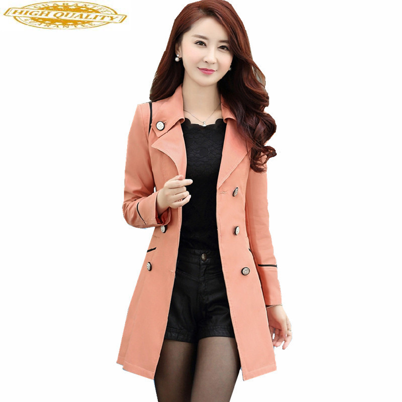 2019 New Arrival Women Trench Coat Women's Windbreaker Large Sizes Outerwear Double Breasted Ladies Coats Abrigos WXF185