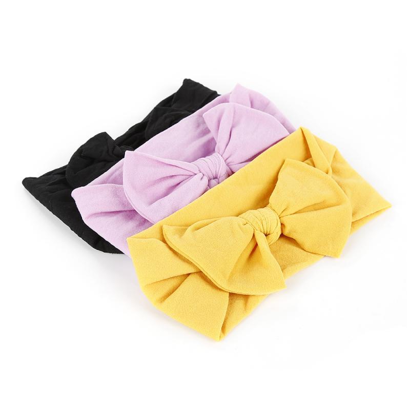 Novo 21 cor do bebê recém-nascido headbands banda de cabelo de náilon turbante atada menina hairbands para recém-nascidos da criança crianças acessórios do bebê