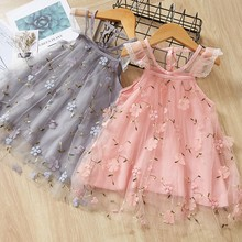 Toddler Baby Girls Fly Sleeve Lace Embroidery Floral TuTu Princess Dress Clothes Kids Girls Summer Casual Short Dress vestidos валентин лавров кровавая плаха