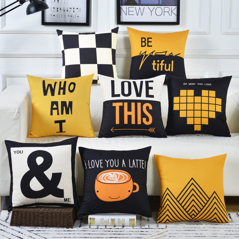 Cojines Sofa waist Cushion Cover <font><b>Pillow</b></font> 30x50/40x40/45x45/40x60/<font><b>50x50</b></font>/55x55/60x60cm Cheaper Decorative Throw Pillowcase for Home image