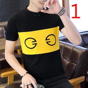 Новинка лета 2019 футболка с коротким рукавом Корейская версия свободного мужского тренда