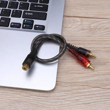 Car Audio 1 RCA Female to 2 RCA Male Y Splitter Cable Converter Cord Adapter Cable For Car Audio System MP3 For Phone