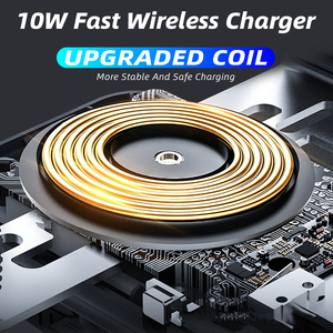 Image 2 - อัตโนมัติ 10W Wireless Charger ประเภท C Huawei mate30 Pro สำหรับ Samsung S10 + Qi อินฟราเรดเหนี่ยวนำรถผู้ถือโทรศัพท์