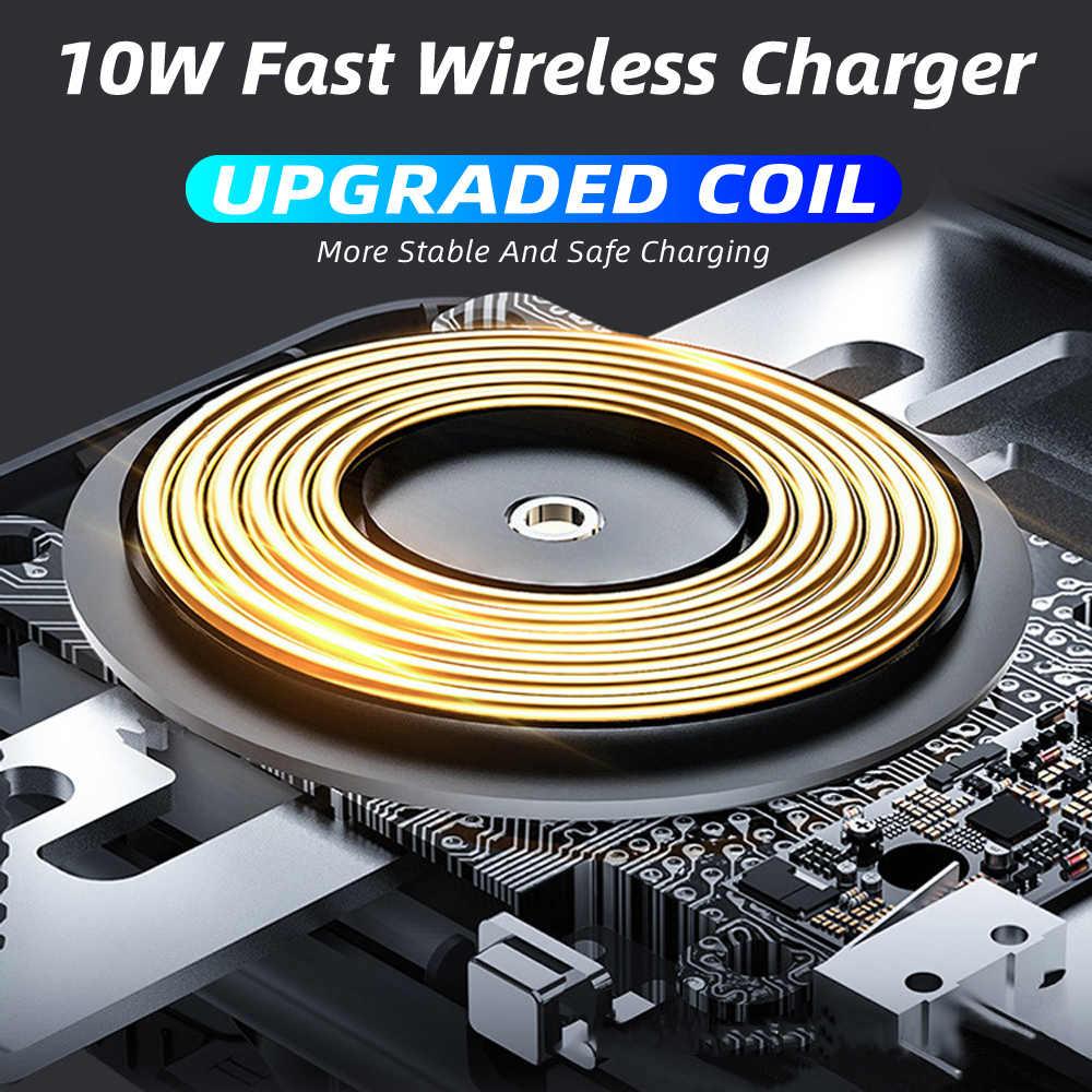 Dengan Qi Wireless Charger Mobil Otomatis Clamp 10W Biaya Cepat Pemegang ForIphone11pro XR XS untuk Huawei P30Pro Sensor Inframerah Ponsel Mount