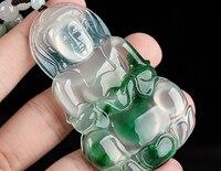 Glamour Ice Jade Jade Avalokitesvara Drop Fashion Male Light Green Flower Jade Brand Luxury Mother's Day Gift
