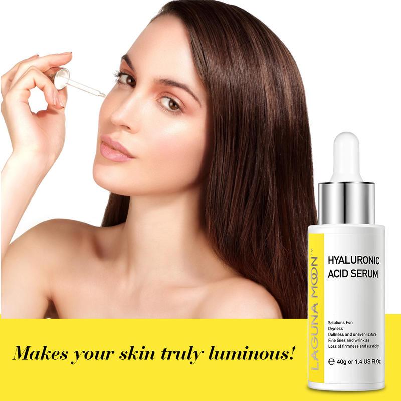 Lagunamoon Hyaluronic Acid Serum 40Ml Anti-Aging Facial Wrinkle Reducer Care Moisturizing Face Care Extract Serum Face Essence