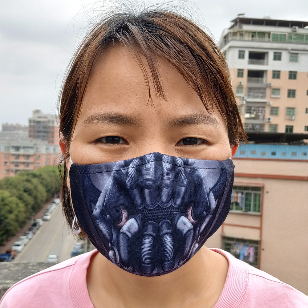 Bane Mask Cosplay Costumes 3D Printing Halloween Cotton