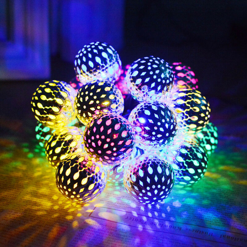 Fairy 50LED Garland Morocco Ball LED String Lights Battery Christmas Lights Outdoor Decoration For Holiday Wedding Halloween