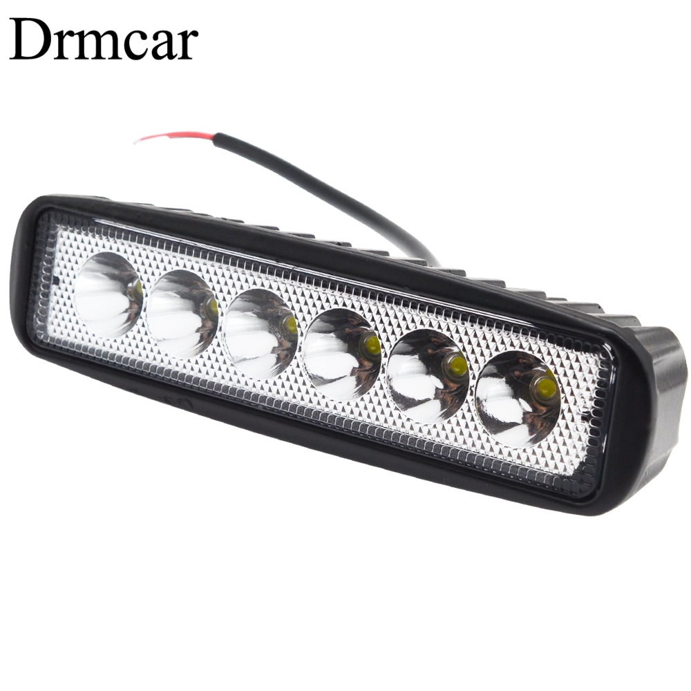 18W 12V LED Work Light Bar 6Leds Spotlight Flood Lamp Driving Fog Offroad White Work Car Light For Ford Toyota SUV 4WD Led Beams