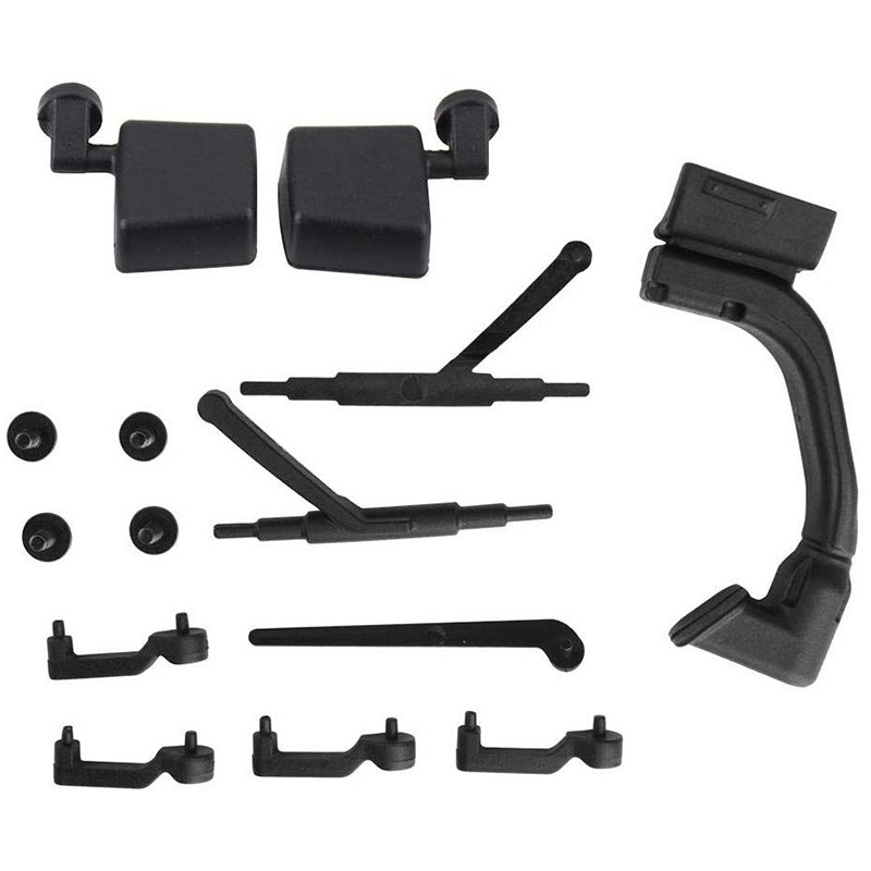 <font><b>RC</b></font> <font><b>Car</b></font> Door Handle Kit <font><b>RC</b></font> Door Handle Wiper Mirror Set for <font><b>1/10</b></font> Traxxas Axial 313Mm <font><b>Car</b></font> <font><b>Body</b></font> <font><b>Shell</b></font> <font><b>RC</b></font> <font><b>Car</b></font> Upgrade Part Accessory image