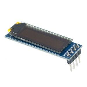 """Image 4 - 10 adet 0.91 inç OLED modülü 0.91 """"mavi OLED 128X32 OLED LCD LED ekran modülü 0.91"""" IIC iletişim D34"""