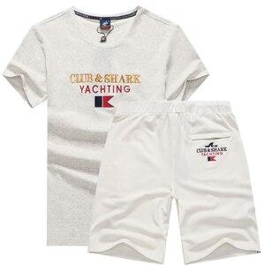 Летние комплекты из двух предметов, мужские комплекты, спортивный костюм, спортивные костюмы для мужчин, бренд Tace & Shark, мужские футболки, шор...