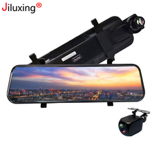 Jiluxing 10 HD 1080P Front+720P Rear Car DVR Dash camera Touch Screen car cameras Rearview mirror Video Recorder Night Vision vodool 120 degree rear mirror car recorder 7 inch in 1080p hd touch screen 12mp night vision car auto dvr dash camera camcorder