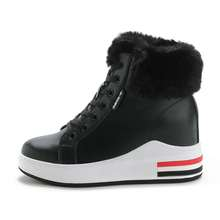 2020 Classic Women Winter Boots Ankle Short Snow Female Warm Fur Plush Insole Hidden Wedge Boot Botas Mujer Size 34-40