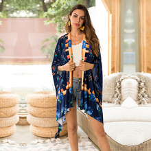 hot sale freeshipping 2019 limited edition autumn new large size women's cloak print cardigan fluffy five-point sleeve coat huntingtower large print edition