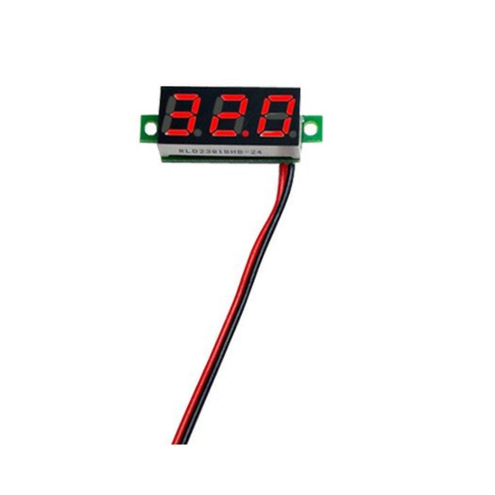0.28 inch 32V Dual LED Digital Voltmeter Ammeter Voltage AMP Power Two-wire Digital Display Voltmeter Adjustable