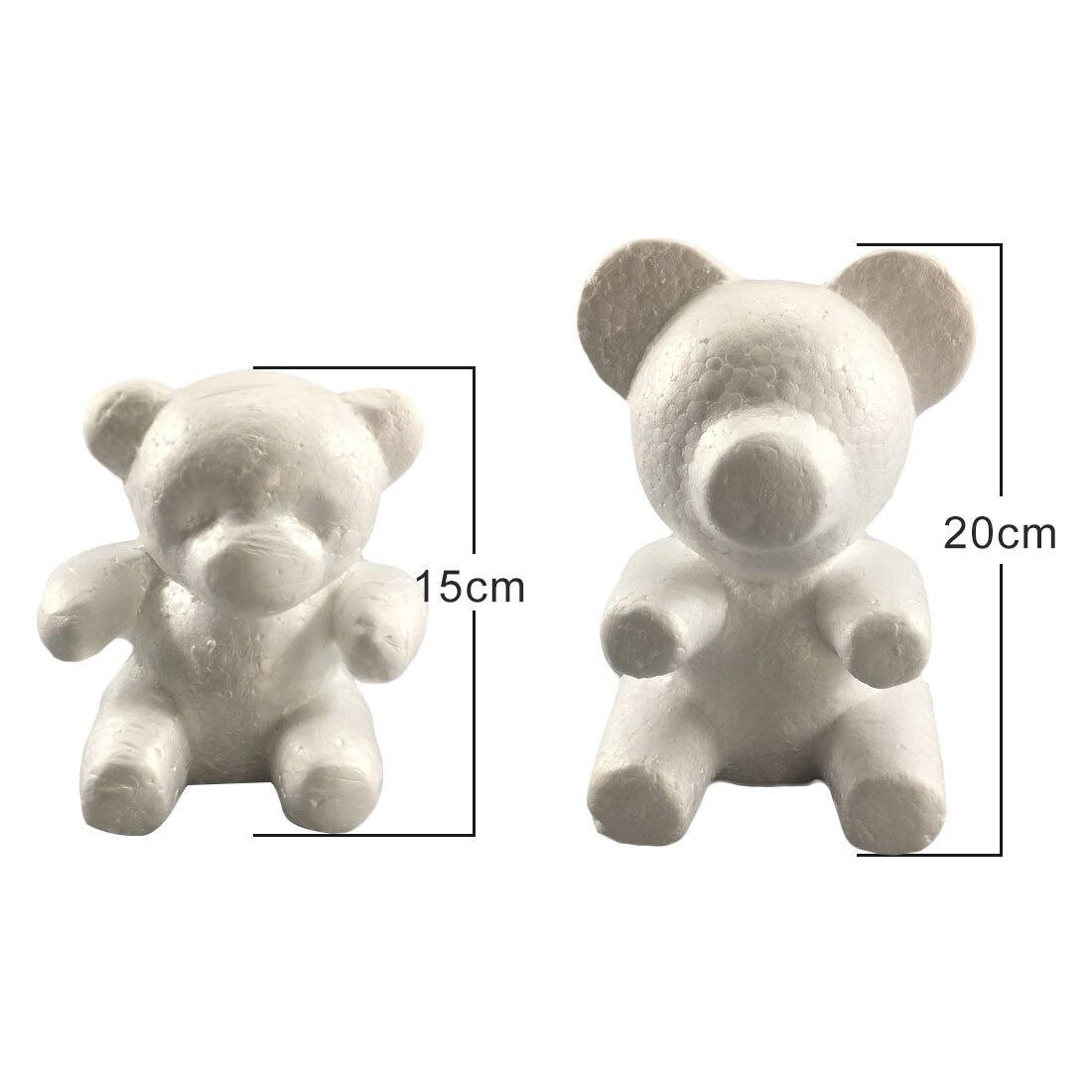 1PC 15cm/20cm  Polystyrene Styrofoam Foam Rose Bear Mold Foam Ball  DIY For Gift Artificial Rose Flower Bear