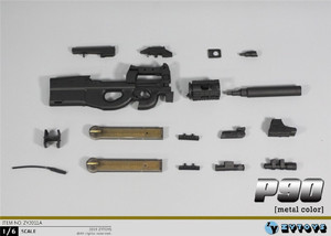 Image 4 - ZYTOYS ZY2011 1/6 P90 Gun Model for 12inch Action Figure DIY