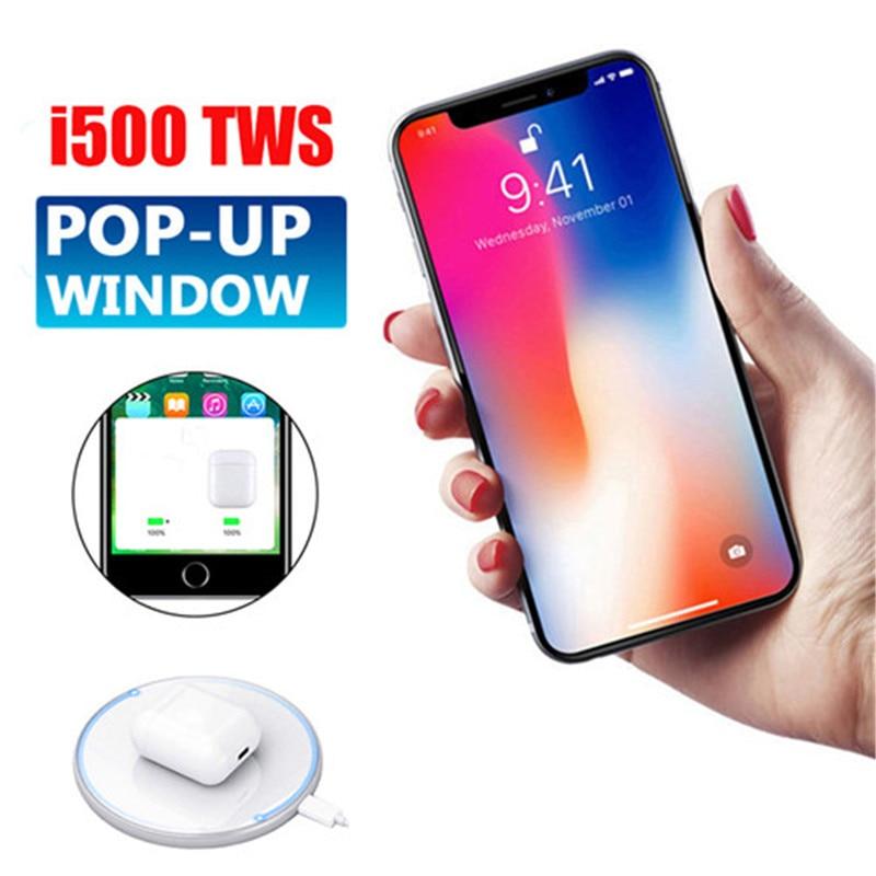 i500 TWS Wireless Earbuds Smart Sensor 1:1 Gen 2 HiFi Sound Bluetooth 5.0 Earphones PK i10 i12tws i30 i60 i200 TWS H1 W1 Chip