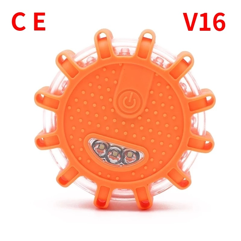 Car Emergency Light Help Flash V16 Approved Signal Dgt Road Flares Rescue Police Light Magnetic Strobe Warning Emergency Beacon