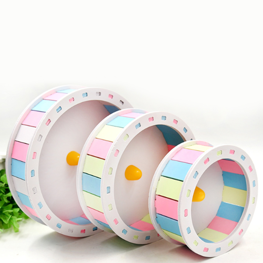 Pet Hamster Toys Running Wheel Roller Round Silent Cage Supplies For Hamster Exercise Accessories