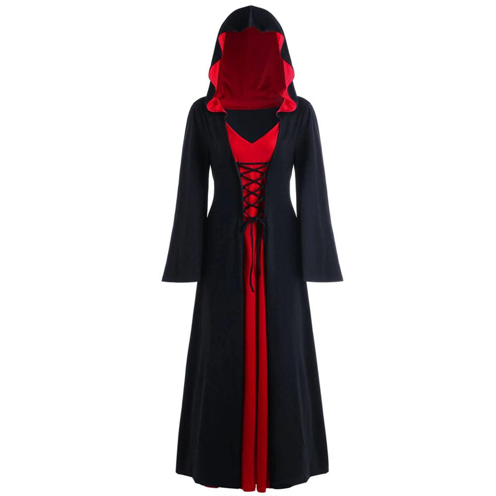 Halloween Gothic Tops Women Sling Butterfly Sleeve Solid Colour Tops for Party Retro Witch Tops Ladies Cosplay Vintage Costume Plus Size S-XXL