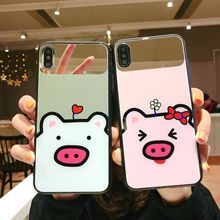 Toughened Glass Couple Phone Cases For iPhone 6 6S 7 8 Plus X XR XS MAX Cute Lovely