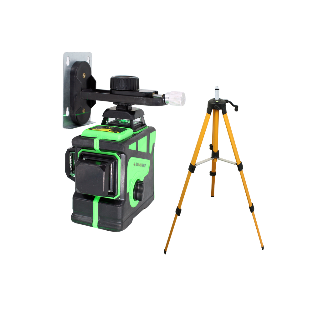 BIGGRIT A Strong 3D 12 Green Lines Laser Level  Super Powerful Laser Beam Cloth Bag  Thick Lines  Horizontal  Vertical Cross