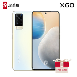 Оригинальные новые vivo X60 5G смартфон NFC Samsung Exynos 1080 6,56 дюймов AMOLED 120 Гц Коэффициент перепрошить 48.0MP камерой на задней стороне корпуса мобильног...