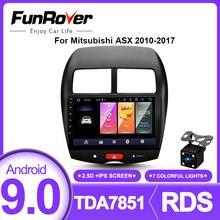 Funrover 2.5D + Ips Android 9.0 Auto Radio Multimedia Speler 2 Din Dvd Gps Voor Mitsubishi Asx 2010-2017 navigatie Autoradio Stereo