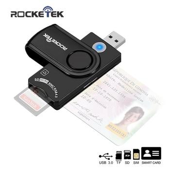 Rocketek USB 3.0 2.0 multi Smart Card Reader SD/TF micro SD memory ,ID,Bank card,sim cloner connector adapter pc computer