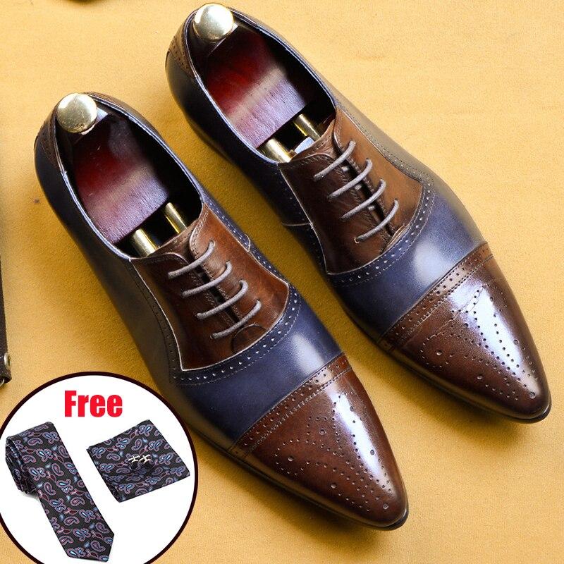 Zapatos de cuero para hombre, zapatos de vestir de negocios, zapatos de hombre, marca Bullock, zapatos negros de cuero genuino, zapatos de boda para hombre-in Zapatos formales from zapatos    1