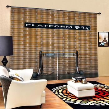 yellow brick curtains 3D Window Curtain 3d print Luxury Blackout For Living Room Beautiful Photo Fashion Customized