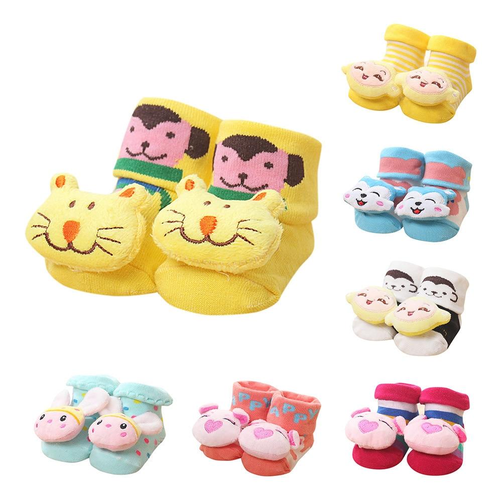 Children's Socks носки детские Puericulture Calze Antiscivolo Cartoon Newborn Baby Girls Boys Anti-Slip Slipper Shoes Boots H5