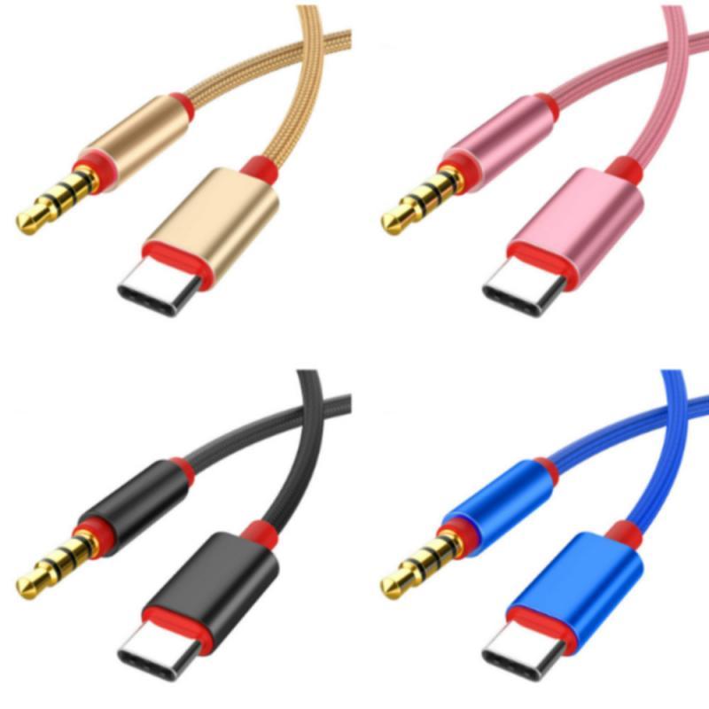 Аудиокабель с разъемом Type-C на 3,5 мм Aux, адаптер для наушников, аудиокабель, линейный шнур для IPod, автомобиля, MP3, ПК для Xiaomi TXTB1