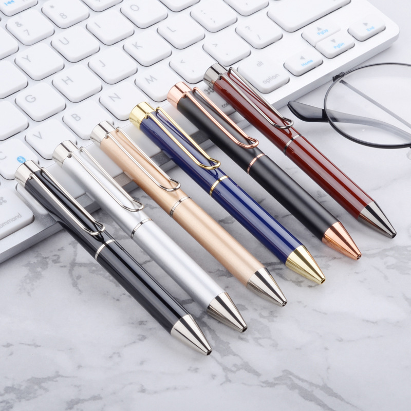 Smooth Office School Stationery Metal Ballpoint Signature Pen Writing Supplies