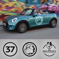 2pcs Bulldog numero 37 Decalcomanie Autoadesivo Dell'automobile Per Mini Cooper One S JCW Countryman Clubman F55 F56 R55 R56 r60 F60 Accessori Auto