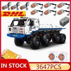 In stock MOULD KING 13144 Technic The Arakawa Moc Tow off-road Truck Tatra 813 8x8 Snowplow with Building Blocks Bricks Toys