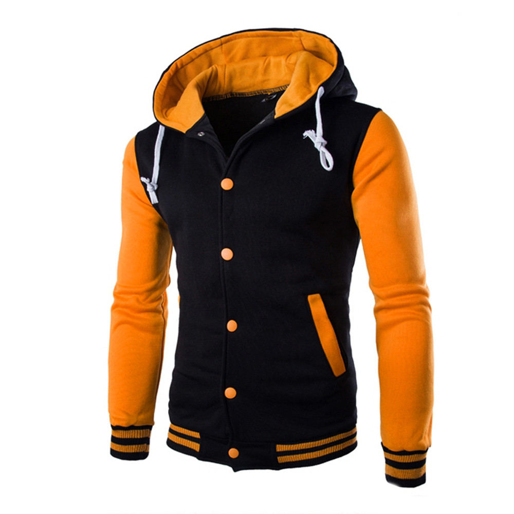 H207c3c1eca724c9b8cceffa7c4012e3eD - WOMAIL 2019 Fashion Zipper Long Sleeve Mens Casual Jackets Patchwork Pure Color High Quality Jacket Cotton Pockets Outwear Coat