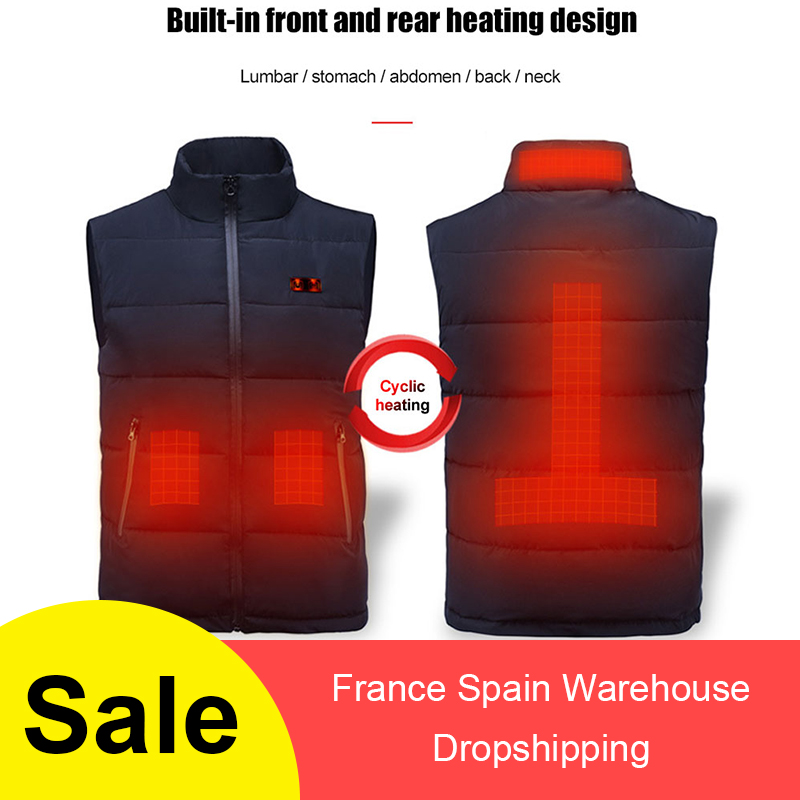 USB Charging Electric Heated Body Warmer Down Vest Washable Heated Clothing For Outdoor Hike Hunt Camp  куртка с подогревом