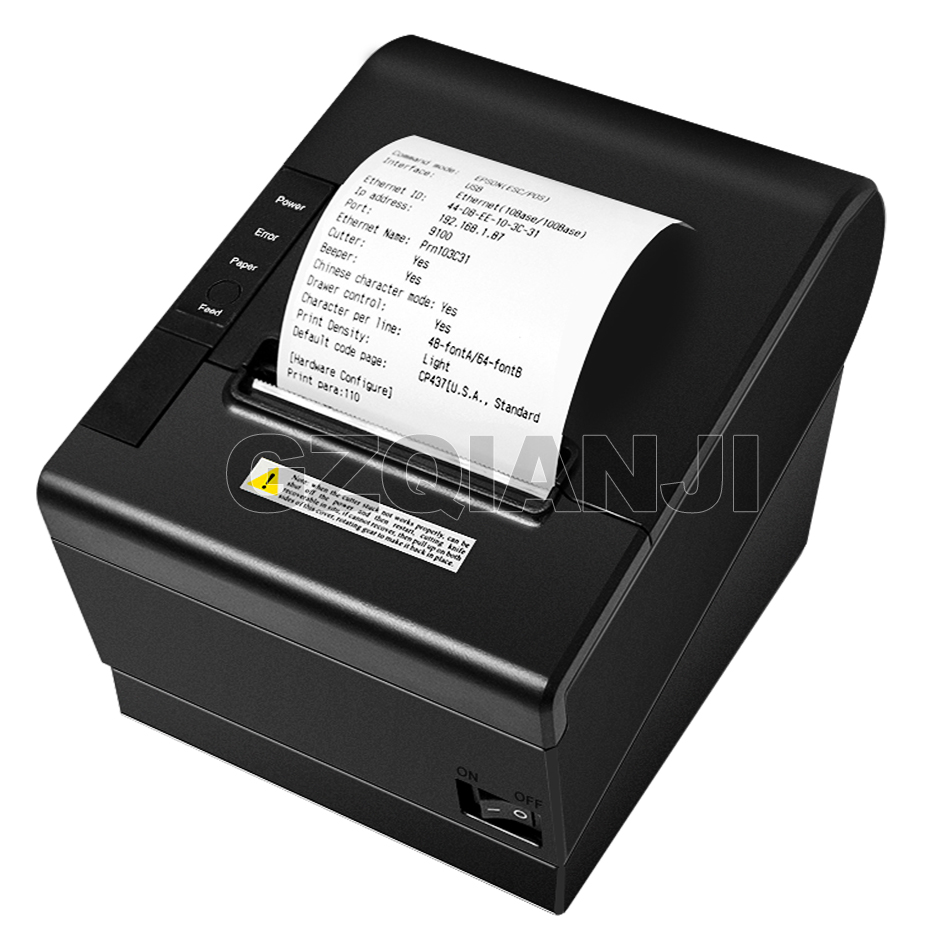 Image 3 - Pos Bill printer 80mm thermal receipt Small ticket barcode printerT Auto Cutting Restaurant Kitchen Printer USB Lan Serial Port-in Printers from Computer & Office