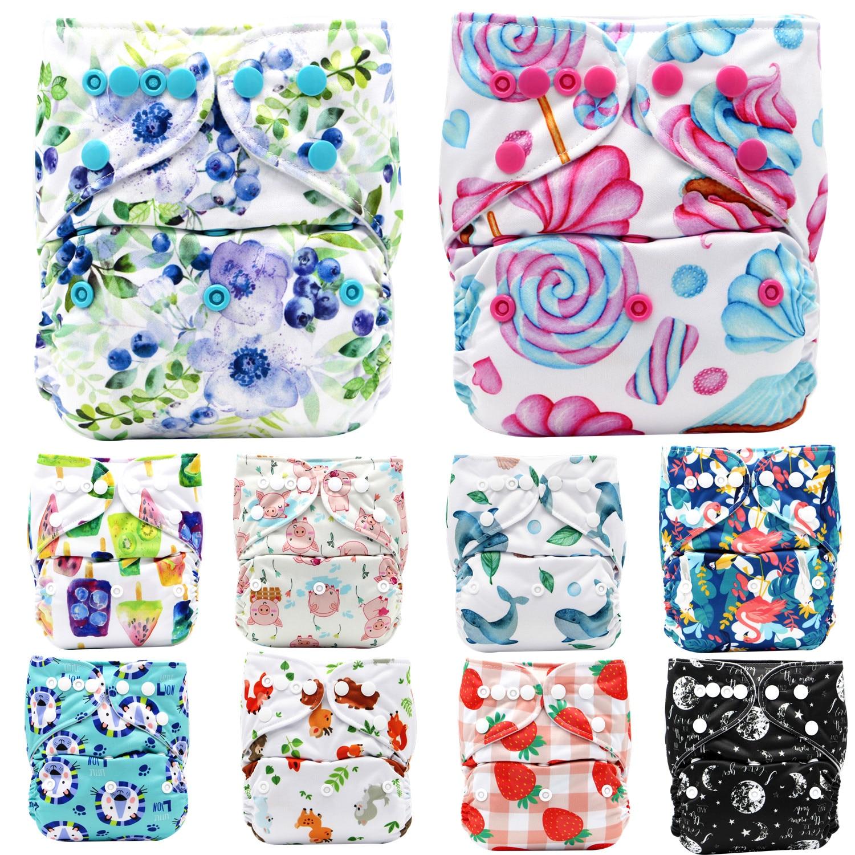 Asenappy Новинка для новорожденных, комбинезон карман ткань пеленки подгузник многоразовый моющийся регулируемый 3 кг-15 кг