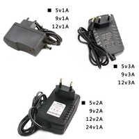 12V Power Supply 5V 220V Lighting Transformers DC 5V 9V 12V 24V DC 1A 2A 3A AC 24V Volt Led Power Supply transformer 220 to 12